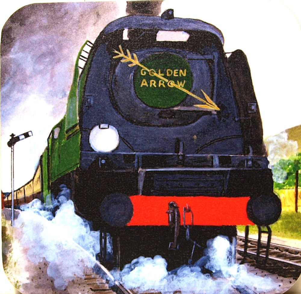 West Country locomotive & Golden Arrow train