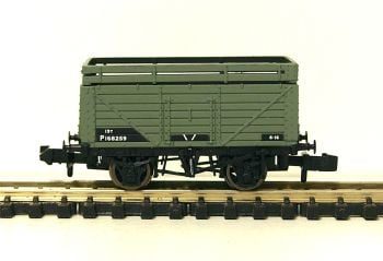 Graham Farish 377176C  7 Plank wagon with coke rail BR grey
