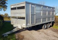0110: Graham Edwards / Wolds Trailers 20ft Stock Trailer / Box