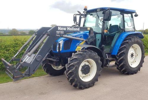 0187: New Holland T5050 4wd c/w TL740 Loader.