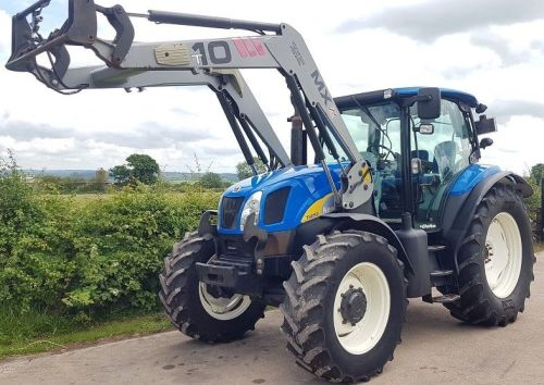 0181: New Holland T6050 Delta 4wd c/w Loader, Year 2008.