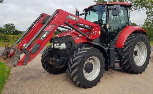 0125: Case Farmall 115U Pro 4wd Tractor c/w Chilton T408 Power Loader.