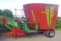 0159: Strautmann 1250 Vertimix Tub Mixer Feeder c/w Front Cross Conveyor.