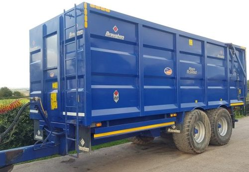 0162: Broughan 17 / 18 Ton Mega High Speed Trailer.