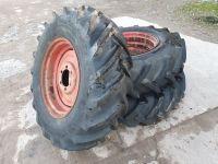 0323: 14.9/13-26 Dunlop Fieldmaster Vintage Tyres x 3