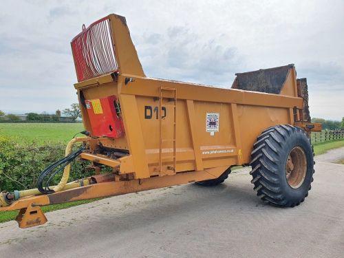 0163: Richard Western Delilah D10 Rear Discharge Spreader. Year: 2013