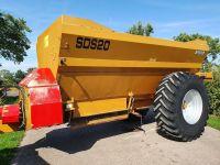 0087: Richard Western SDS 20 10 Ton Side Discharge Spreader. Excellent Condition.