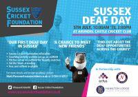scf deaf day poster