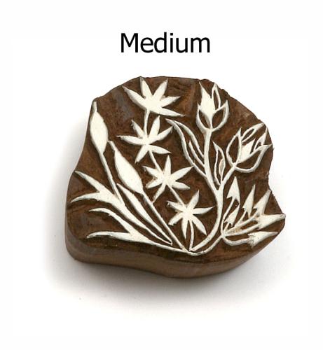 Hand Carved Indian Print Blocks - MEDIUM