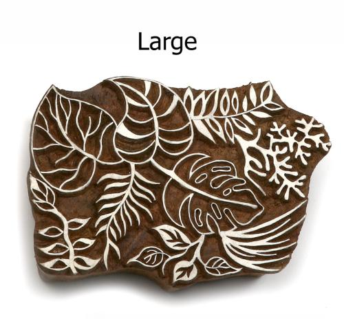 Hand Carved Indian Print Blocks - LARGE