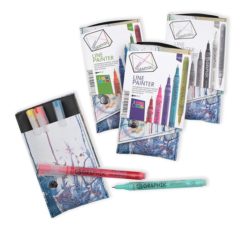 Derwent Graphik Line Painter Sets