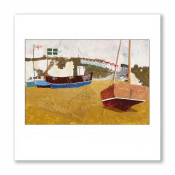 Boats on Beer Beach - Greetings Card