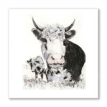Harry the Hereford - Greetings Card