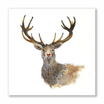 Rudy the Stag - Greetings Card