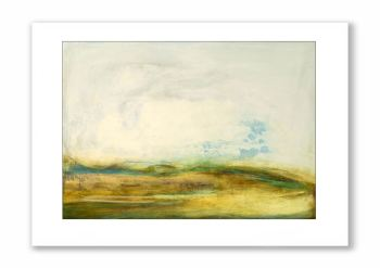 Running Through Sunlit Mist - Greetings Card
