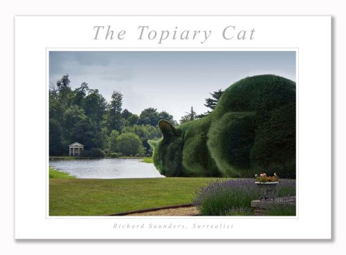 Topiary Cat - Art Print - 29.5x42cm