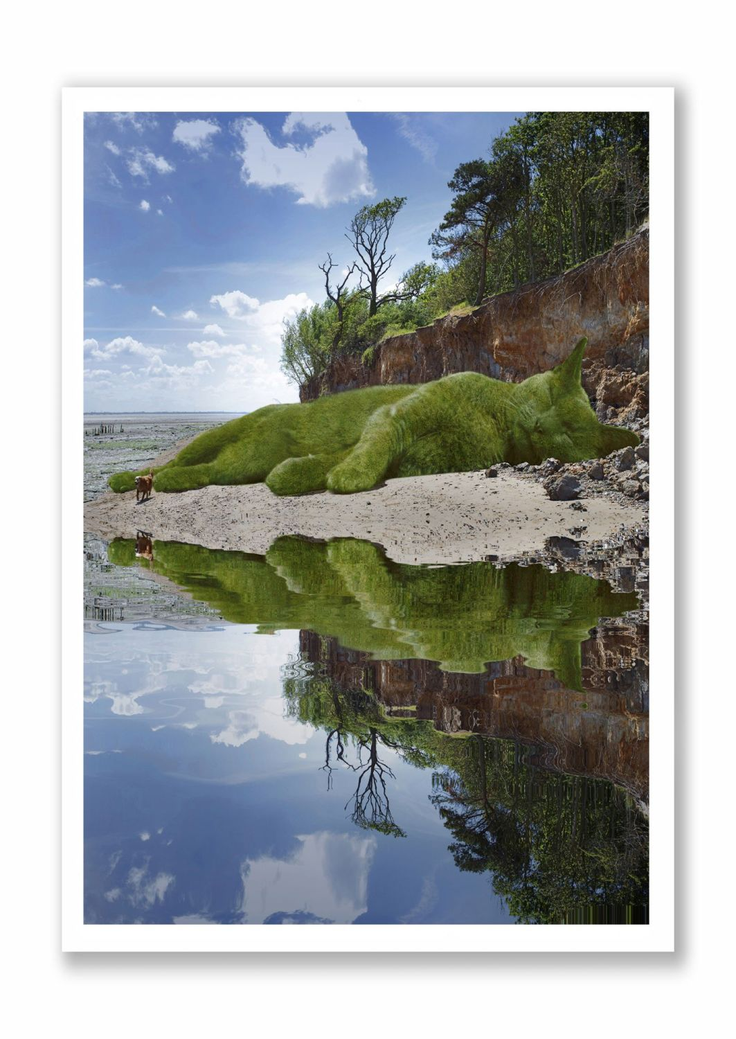 Topiary Cat - On The Beach