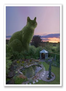 Topiary Cat - Evening Light
