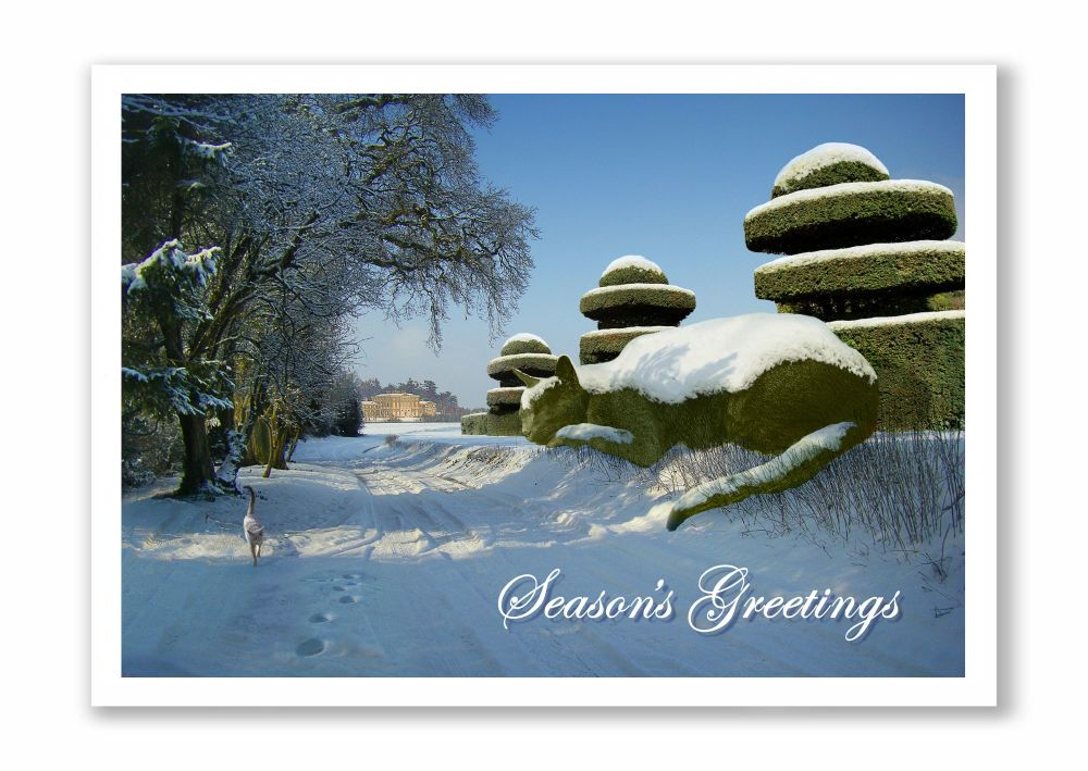 *NEW* Topiary Cat Seasons Greetings