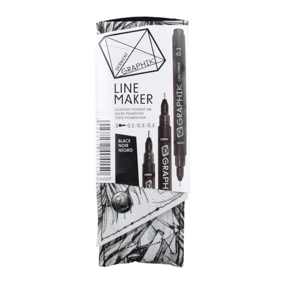 Derwent Graphik Line Maker Black Pack of 3