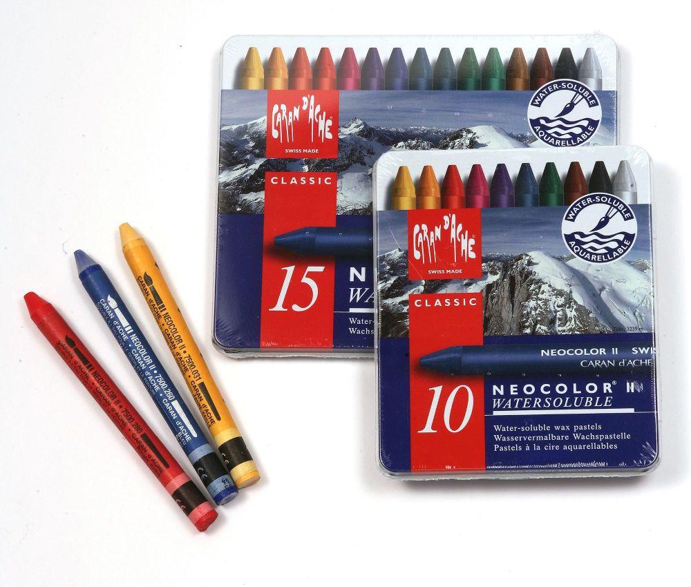 Caran D'ache Neocolor II Watersoluable Wax Pastel Sets