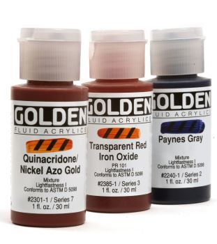 *Golden Fluid Acrylics Collections- from