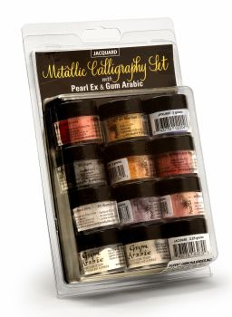 Jacquard Metallic Calligraphy Set