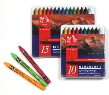 Caran D'ache Neocolor I Water-resistant Wax Pastel Sets. From