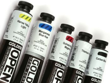Golden OPEN Slow-Drying Acrylics Intro Set x 5 colours