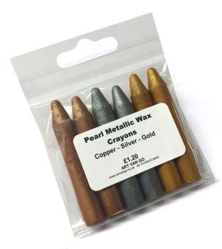 **NEW** Pearl Metallic Wax Crayons