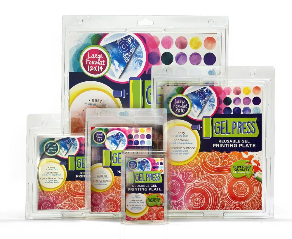 Gel Press Reusable Gel Printing Plates INDIVIDUAL PRICES FROM:
