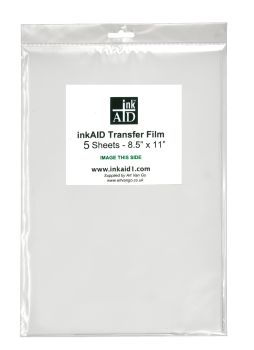 "**NEW** inkAID Transfer Film - 5 Sheet Pack 8.5"" x 11"""