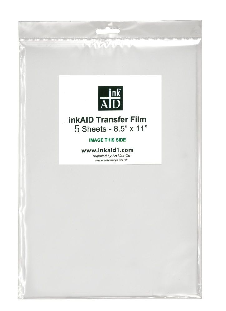 !**NEW**! inkAID Transfer Film - 5 Sheet Pack 8.5
