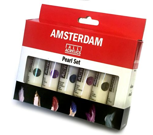!!NEW - SPECIAL PRICE!! Talens ALL ACRYLICS Pearl Set Amsterdam