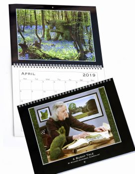 !!!**SPECIAL PRICE - LIMITED STOCK**!!! Topiary Cat - 2019 Calendar - A Bushy Tale by Richard Saunders, Surrealist