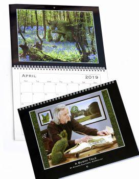 !!!**NEW**!!! Topiary Cat - 2019 Calendar - A Bushy Tale by Richard Saunders, Surrealist