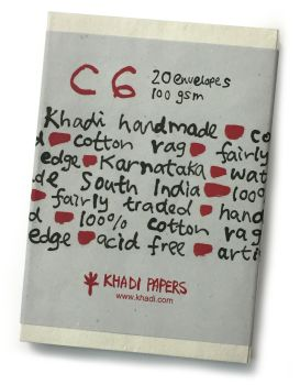 Khadi C6 Envelopes - 20 Pack