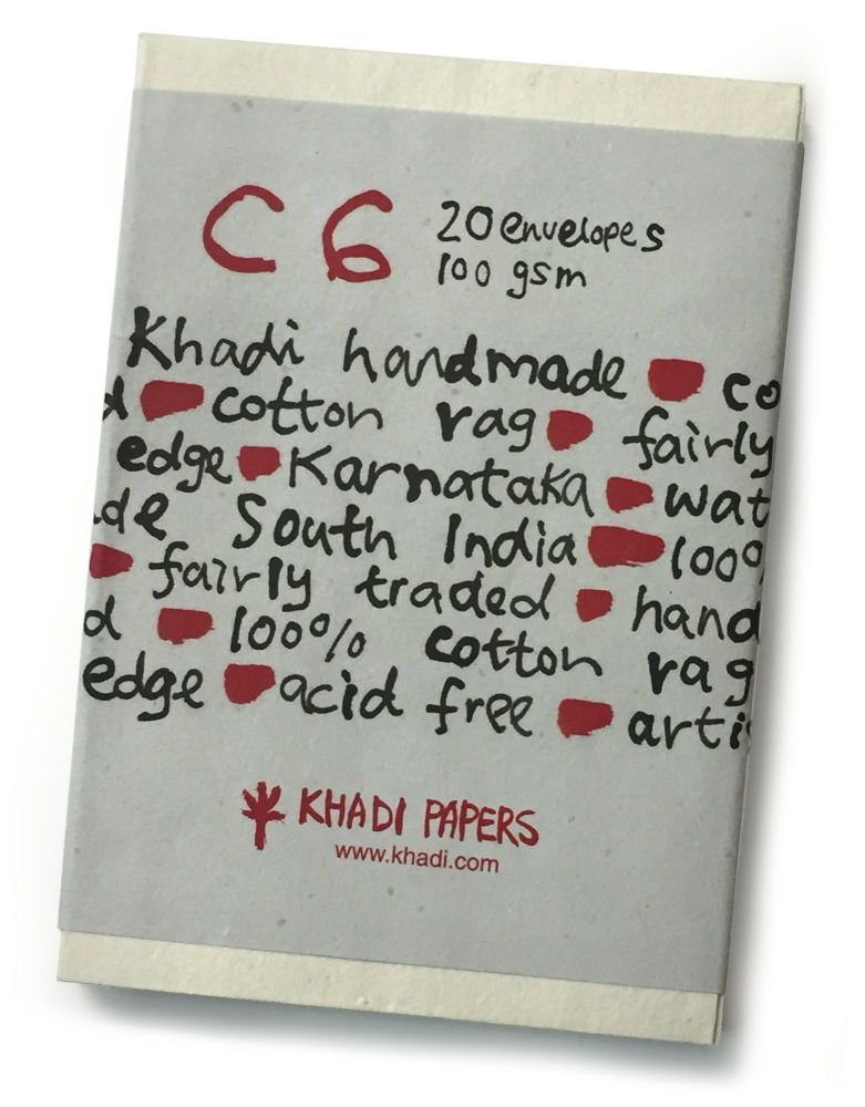 Khadi C6 Envelopes - 20 Pack White