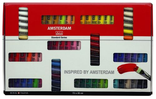 !!NEW - SPECIAL PRICE!! Talens ALL ACRYLICS *72 Piece* Standard Series Set