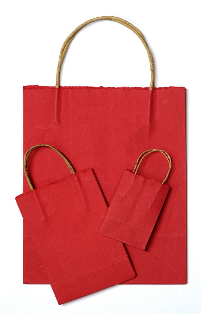 Handmade Paper Bags - RED