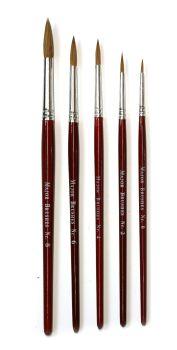 Economy Sable Brush Set - 5 x Round