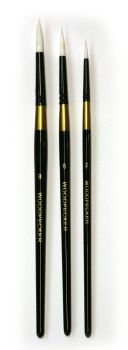 *** NEW *** Synthetic Brush Set - 3 x Round. From