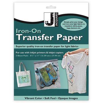 Jacquard Iron-On Transfer 3 Sheet Pack