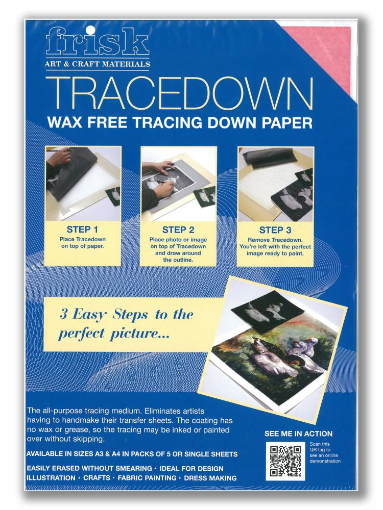 ***NEW*** Frisk TRACEDOWN Wax Free Tracing Down Paper