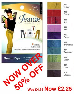!!**SPECIAL PRICE - OVER 50% OFF**!! Jacquard Jeanie Denim Dyes