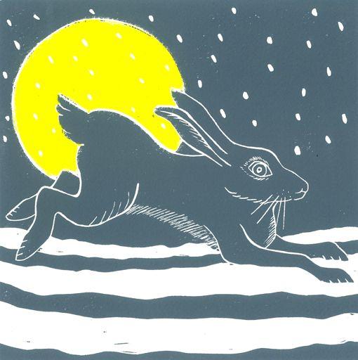 Anna Snowy Hare and Moon.1