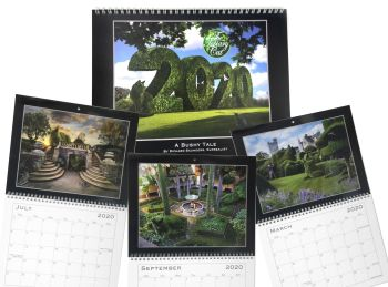 !! !*** NEW ***! !! Topiary Cat - 2020 Calendar - A Bushy Tale by Richard Saunders, Surrealist