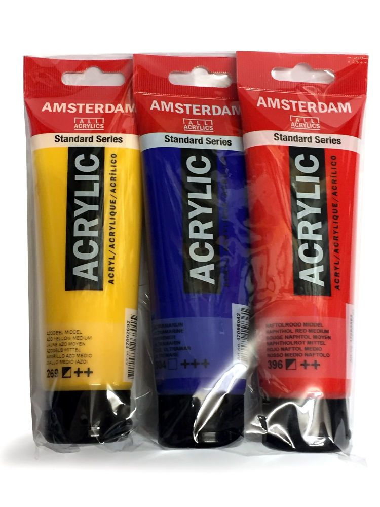 !!!*** NEW ***!!! AMSTERDAM All Acrylics Standard Series 3 x 120ml sets