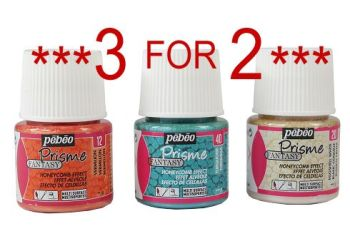 SPECIAL OFFER Pebeo Fantasy Prisme Paint - Honeycomb Effect 45ml