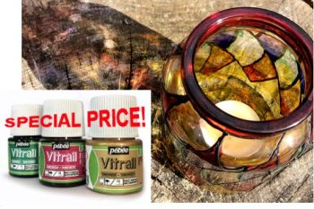 SPECIAL PRICE Pebeo Vitrail Glass Paint 45ml